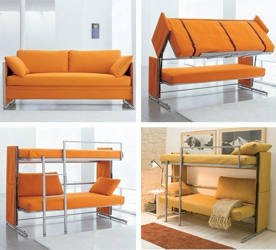 Awesome Space Saving Furniture! Made In Italy! Couch Converts Into A Bunk Bed! So