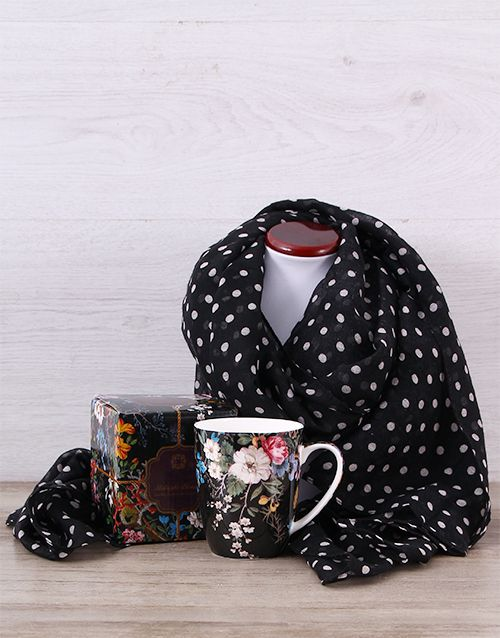 South Africa Birthday Gifts For HerBuy Midnight Blossom Scarf Hamper Online