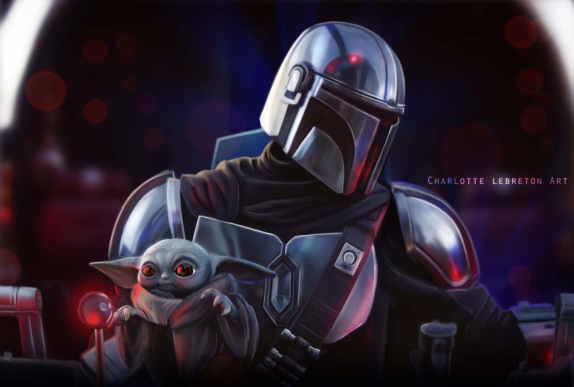 Mandalorian By Charlottelebreton On Deviantart Star Wars Awesome Yoda Wallpaper Star Wars Art