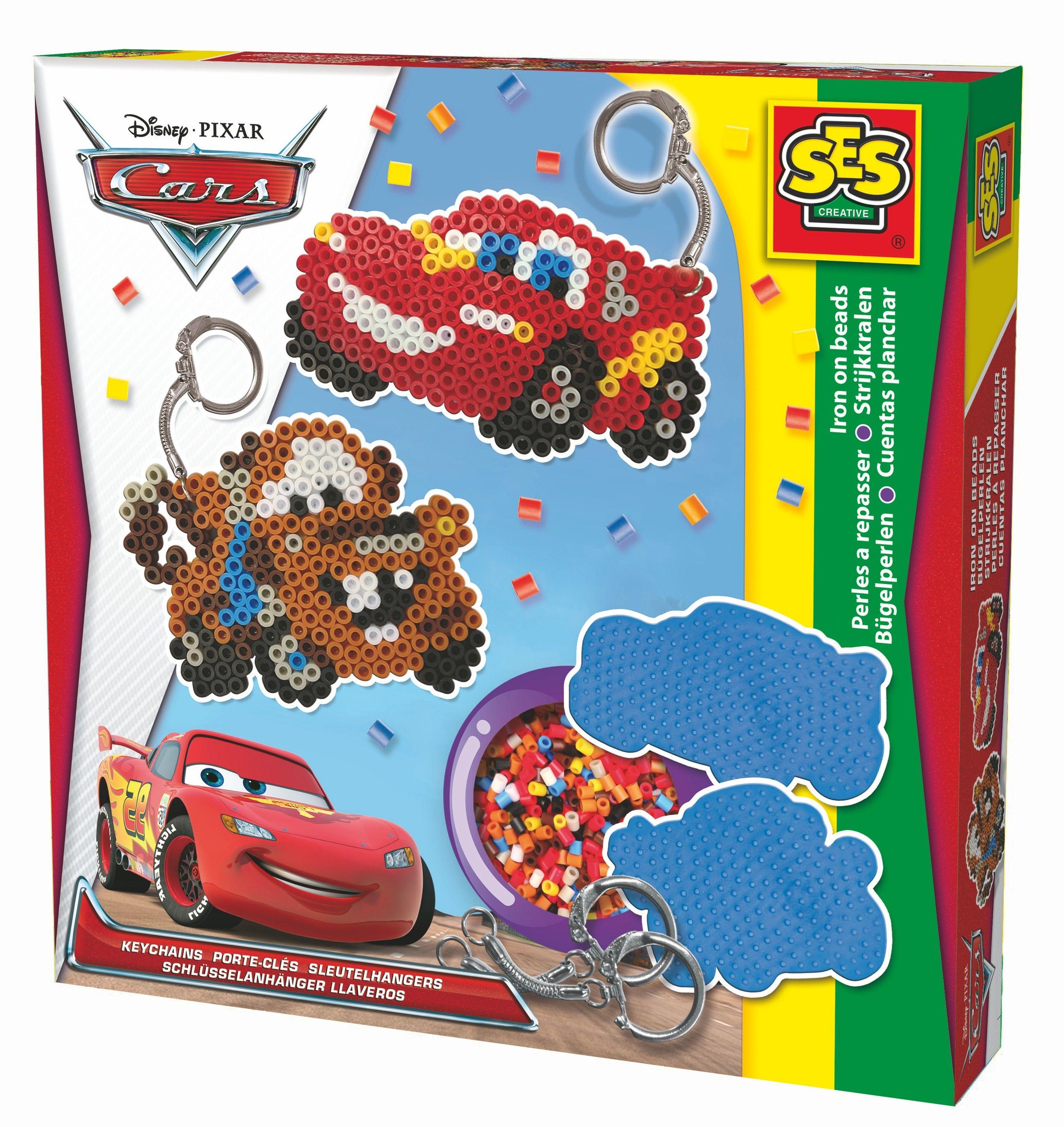 In Deze Doos Vind Je Twee Disney Cars Legbordjes Strijkpapier Sleutelhangers Een Instructieboekje En De Benodigde Str Strijkkralen Sleutelhanger Disney Cars