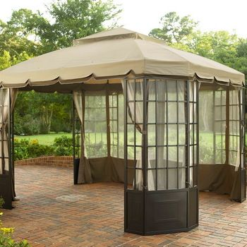 Sunjoy Sears And Kmart Jst Bay Window Replacement Canopy Fabric Gazebo Replacement Canopy Outdoor Shade