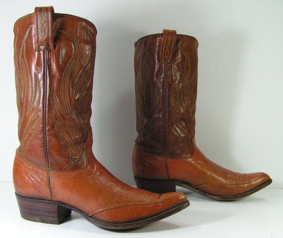 RESERVED vintage cowboy cowboy cowboy Stiefel Damenss 6.5 c Braun Leder western ... 7cb248
