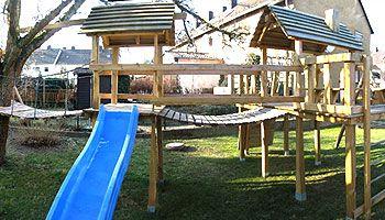 Klettergerüst Garten Selber Bauen : Vätersache spielgerüst selber bauen kindergarten klettergerüst
