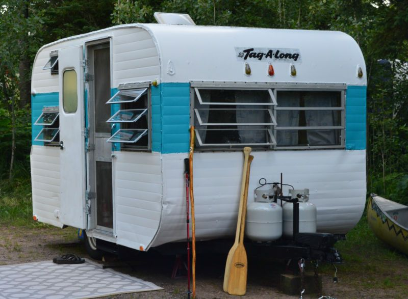 1967 Tag A Long Canned Ham Vintage Travel Trailer Camper Vintage Camper Vintage Travel Trailers