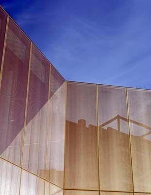 Die Fein Perforierte Kupfereinlage Fassade