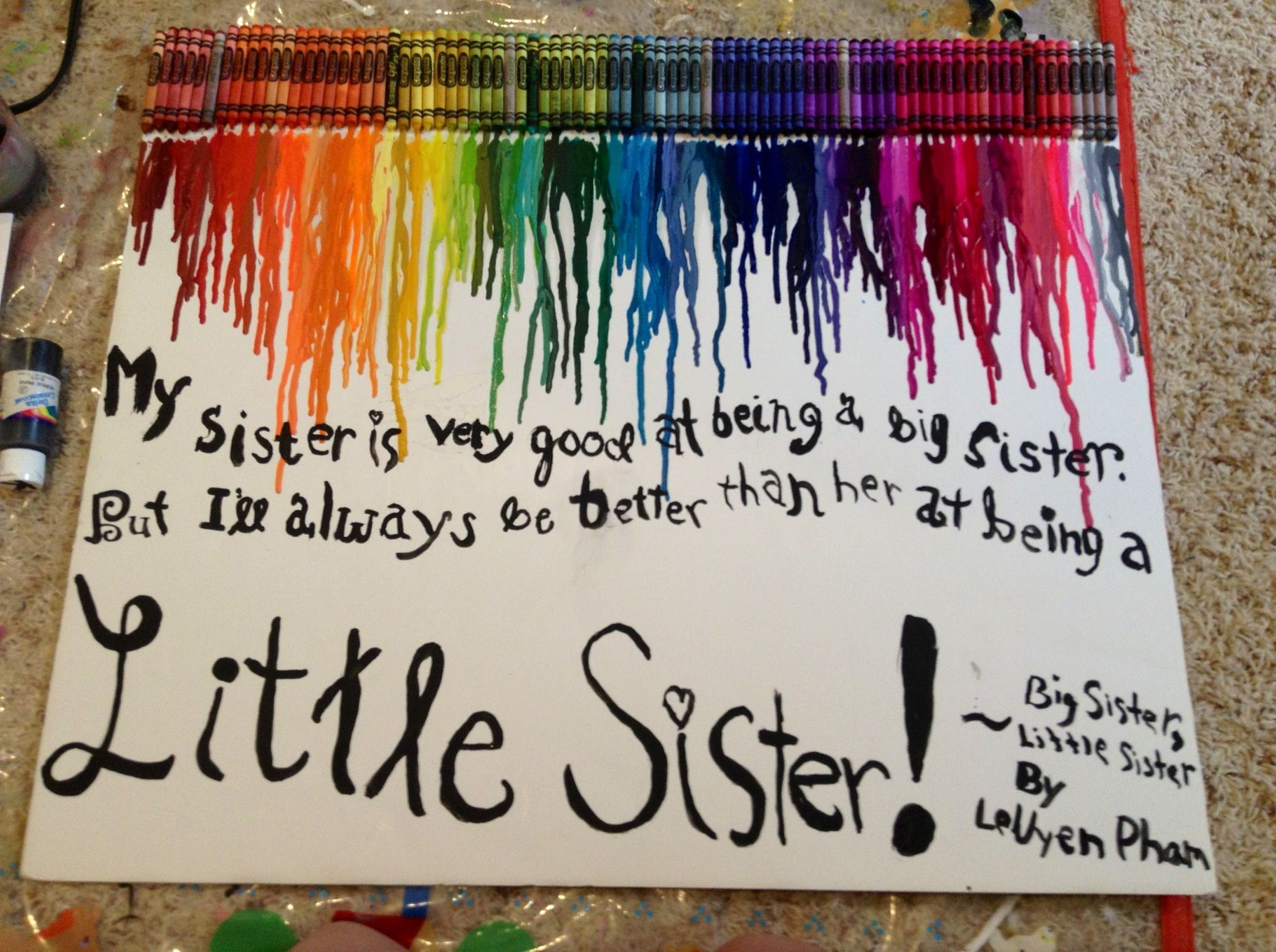 My little sisters eighth birthday present! Made it myself
