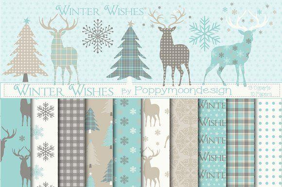 Winter Wishes by Poppymoondesign on @creativemarket