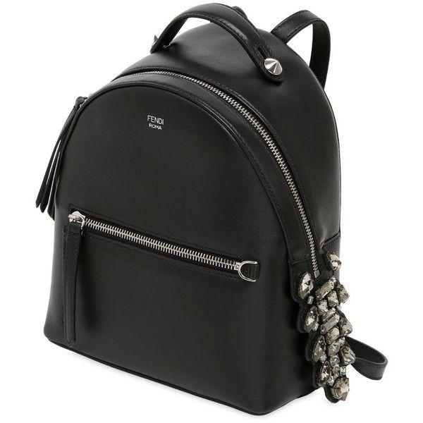04e2c2fa56eb Fendi Women Mini Leather Backpack W  Crystals ( 2