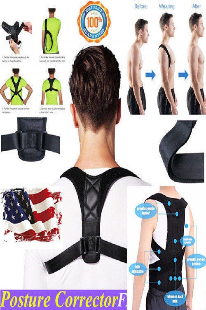 Details about  /POSTURE Corrector Back Shoulder Support Body Brace Lumbar Belt