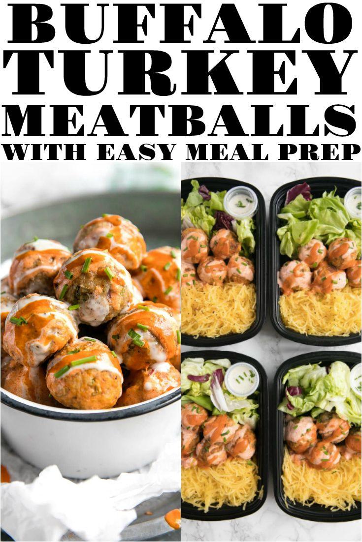 Buffalo Turkey Meatballs With Easy Meal Prep Bowls Recipe Food