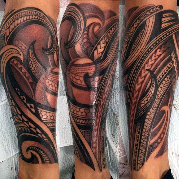 40 Polynesian Leg Tattoo Designs For Men Manly Tribal Ideas Leg Tattoos Polynesian Tattoo Leg Sleeve Tattoo