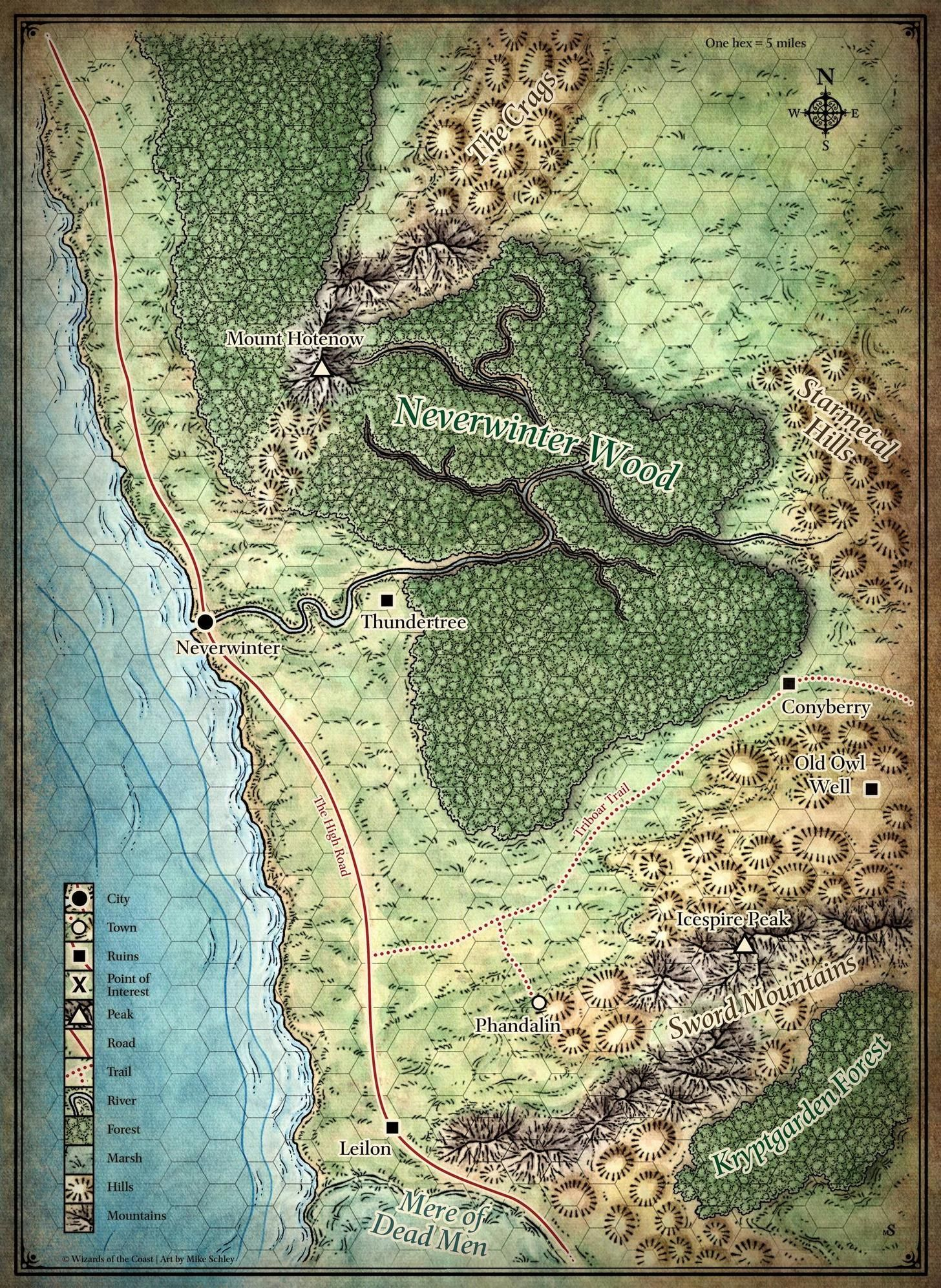 neverwinter map | DnD | Fantasy map, Dungeon maps, Map
