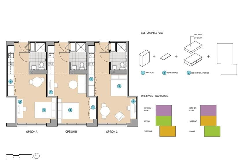 Studio house adapt nyc micro units portfolio dattner for Apartment design competition
