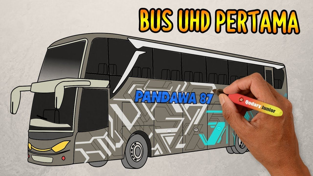 Bus Pandawa 87 Uhd Jetbus 3 Pertama Di Indonesia Cara Menggambar Bus Gambar Belajar