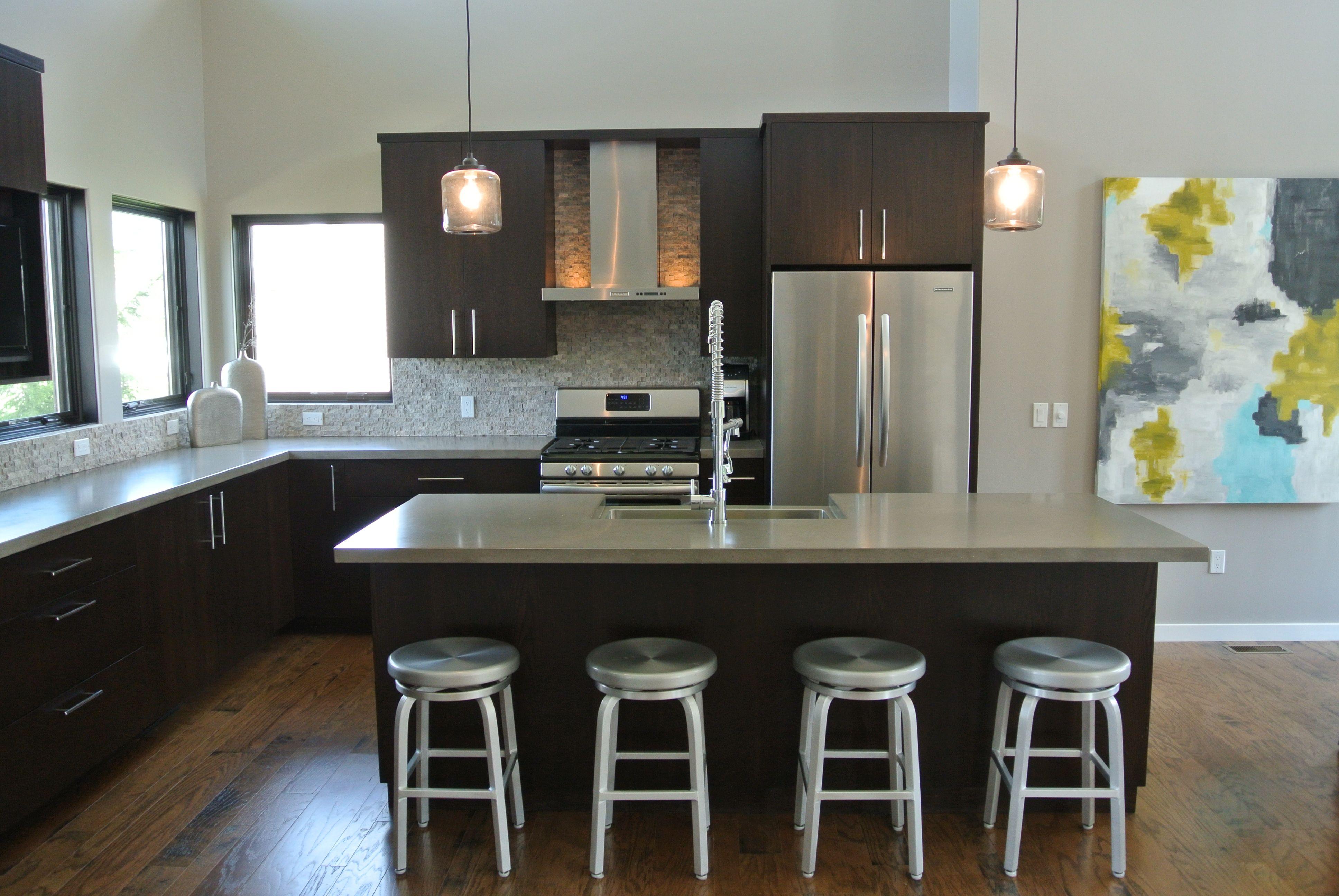 hard topix - precast concrete countertop | kitchen island