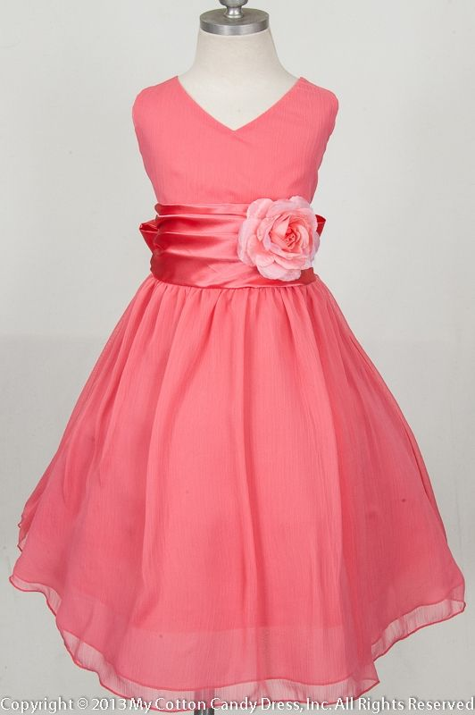 63891d97acce Coral flower girl dress | Wedding in 2019 | Flower girl dresses ...
