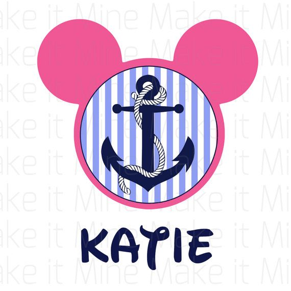 Disney Personalized Anchor Cruise Iron On Transfer by CELEBRATees