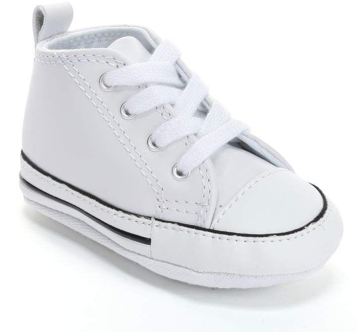 f9b022b92bd3e5 Baby Converse First Star Leather Crib Shoes