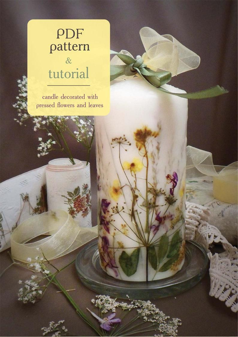 PDF Candle Tutorial How to make floristic Candle DIY