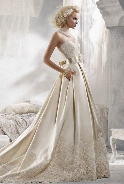 26 Pleated Wedding Dresses You\'ll Like | Hochzeitskleider ...