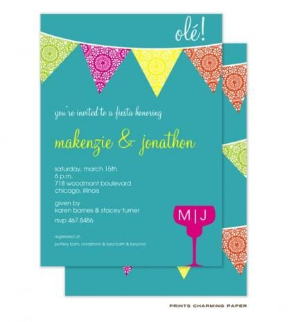 Ole! Fiesta Bridal Shower Invitations by Invitation Duck | Shower ...