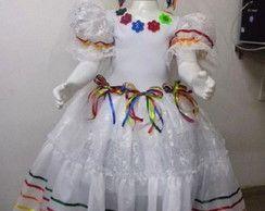 Vestido Infantil Noiva Festa Junina Vestidos com o