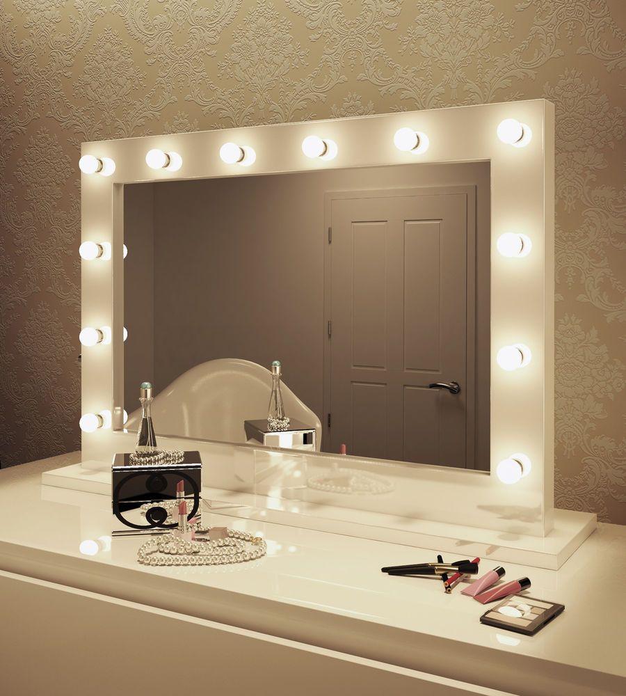 Led Hollywood Vanity Makeup Mirror Ebay Hollywood Mirror With