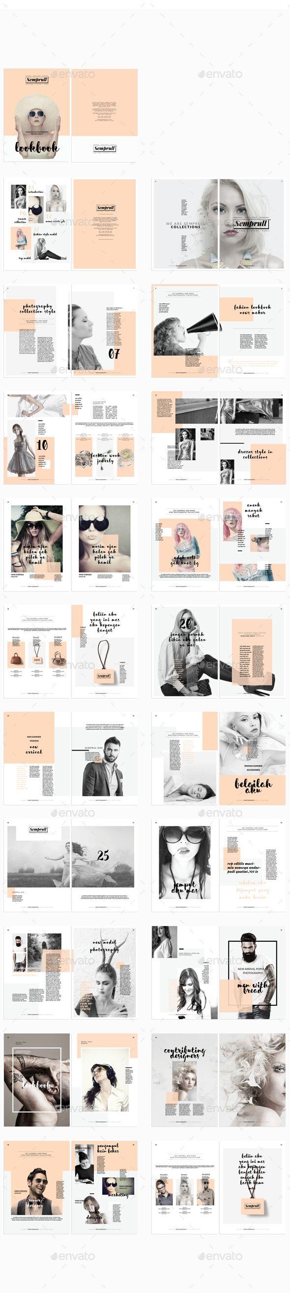 Lookbook Template InDesign INDD #design Download: http://graphicriver.net/item/lookbook/14095999?ref=ksioks