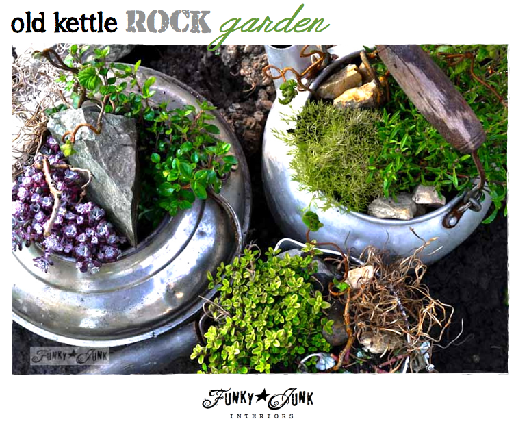 Old kettle rock garden   Funky junk interiors, Funky junk and Kettle