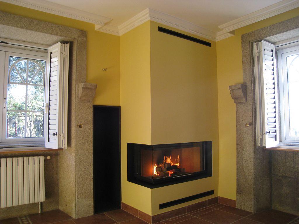 Chimenea rocal g 45 angulo moderni unutarnji kamini home decor