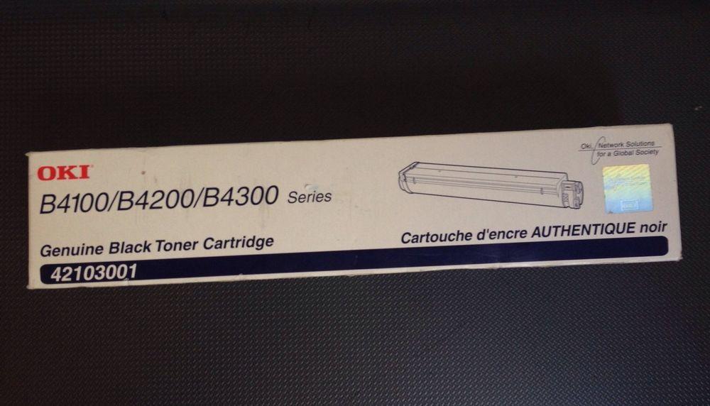Genuine Okidata OKI 42103001 Black Toner Cartridge B4100//B4200//B4300 New Sealed