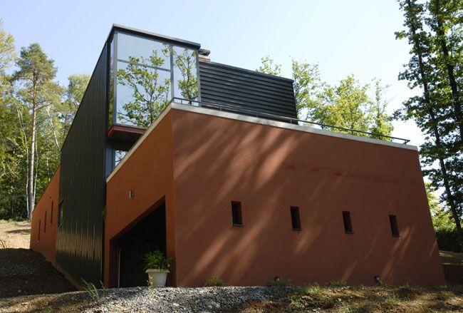 construire sur un terrain en pente architecture pinterest architecture. Black Bedroom Furniture Sets. Home Design Ideas