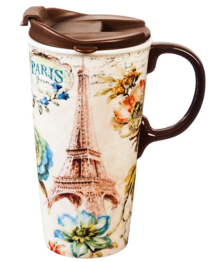 Paris Forever 17 oz. Ceramic Travel Cup