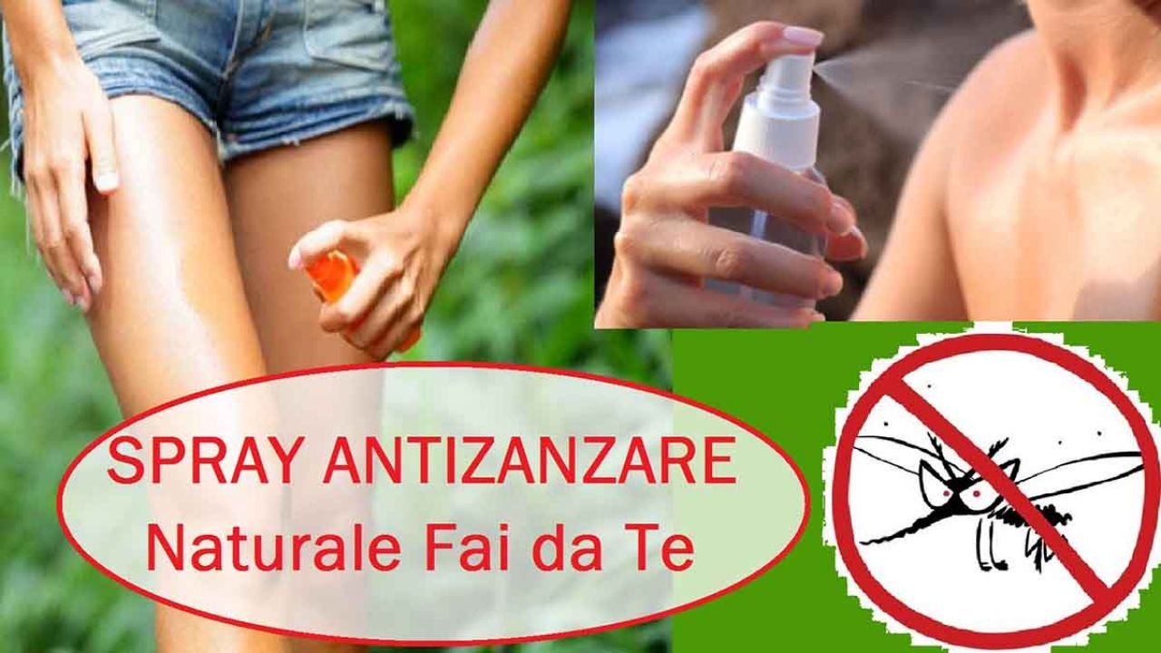 Spray repellente CONTRO LE ZANZARE – Il FAI DA TE Naturale per l'estate