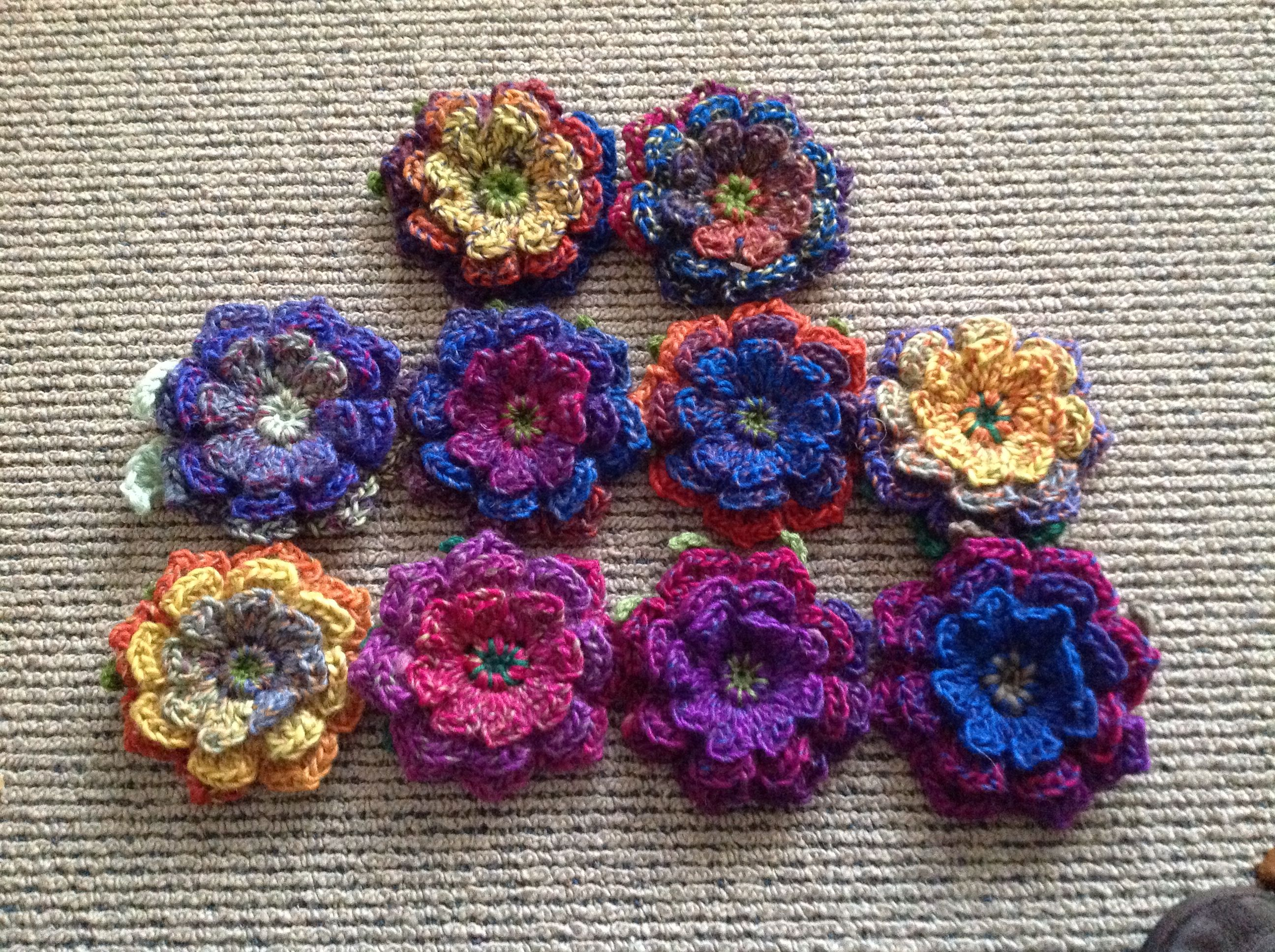 pinterest flower pin brooches crochet accessories crocheted brooch
