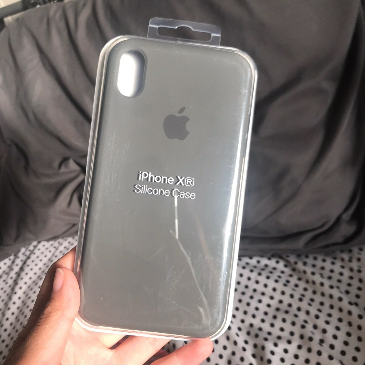 Authentic apple iphone xr case silicone finish in
