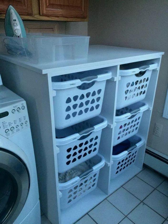 22+ DIY Wäschekorb Organizer #Waschraum #Waschraumideen # ...