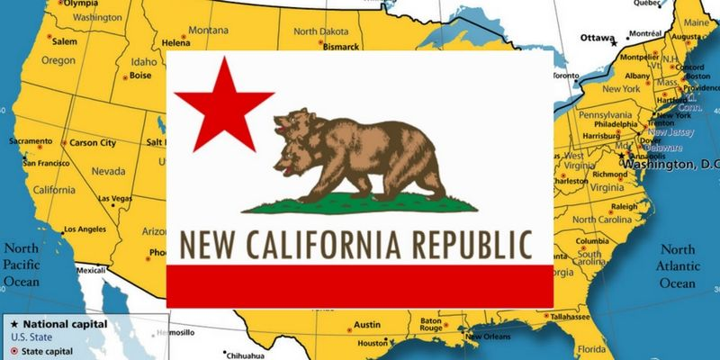 The State of New California declared its independence from ...
