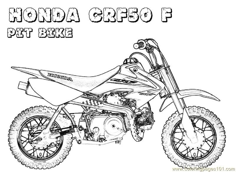 Motorcycle Coloring Pages Pdf : Honda bike coloring page art lessons pinterest