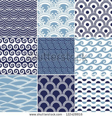 seamless japanese ocean wave pattern by paul_june, via ShutterStock