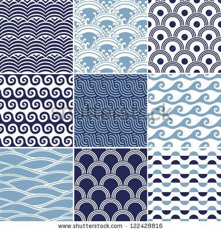 seamless japanese ocean wave pattern by paul_june, via ShutterStock