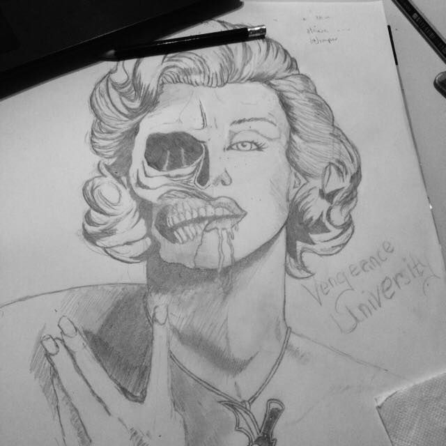 Marylin Monroe, Design made by Vengeance University. <3   Drawn by me ~