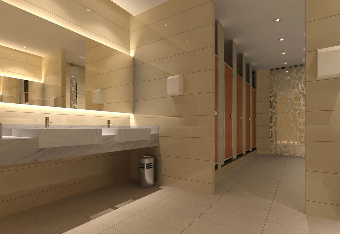 Hotel public restroom design google search public for Toilet room decor