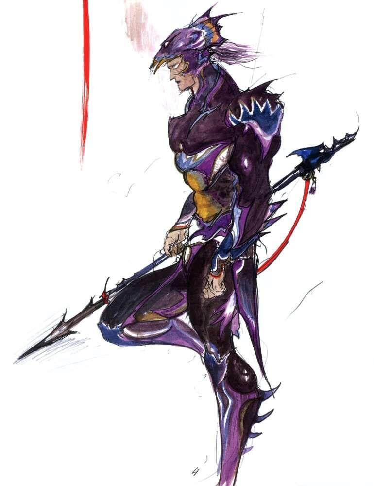Yoshitaka Amano Kain Highwind Final Fantasy Iv Final Fantasy Art Final Fantasy Artwork Final Fantasy Iv