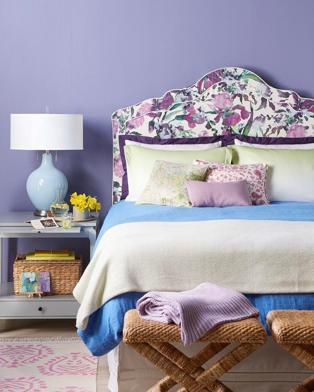 Pin by Home Kreavi on Bedroom Collection Purple decor