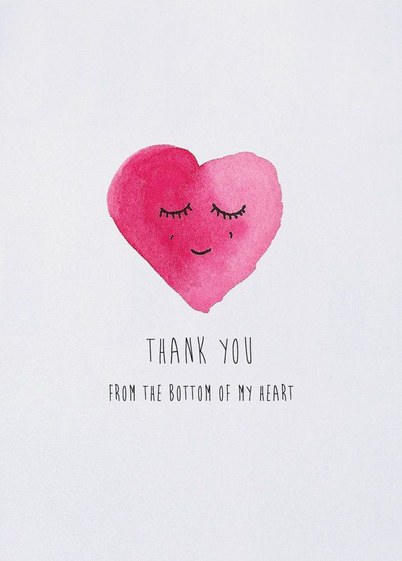 Thank You From The Bottom Of My Heart Card By Theinvisiblekitten My Heart Quotes Beautiful Heart Quotes I Love You Images