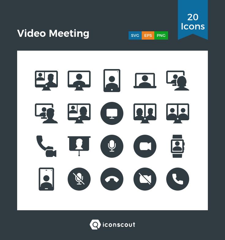 Download Video Meeting Icon Pack Available In Svg Png Eps Ai Icon Fonts Icon Pack Icon Icon Font