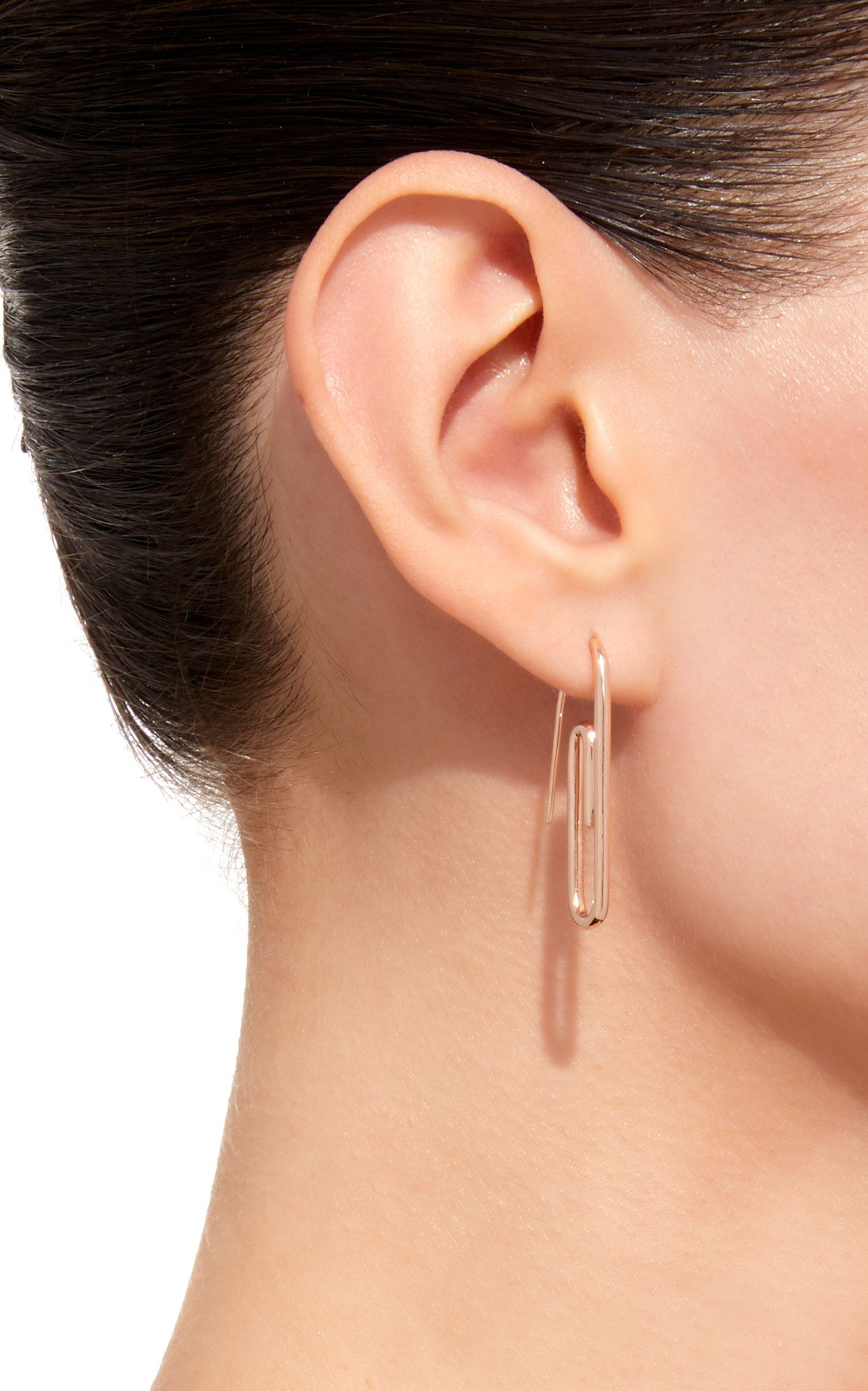 Click Product To Zoom Anita Ko Single Rose Gold Paper Clip Earring