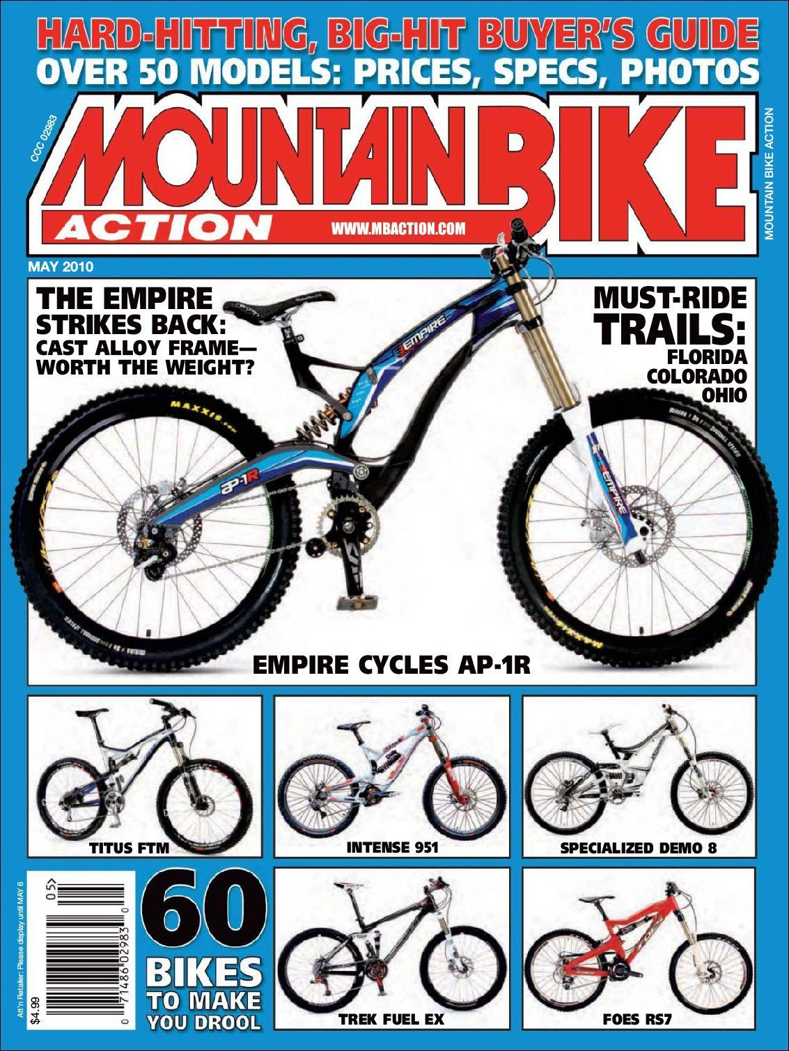 Popular Magazine Brands Mountain bike action, Mountain