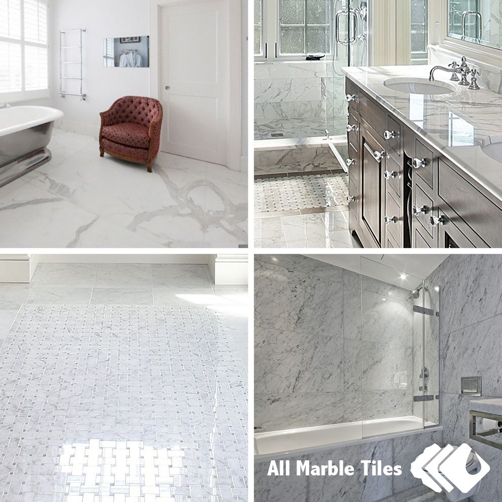Bianco Carrara Marble Tile, Mosaic, Marble Border and Moulding for ...